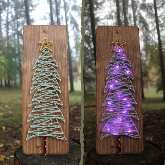 Twinkling Tree String Art To Go