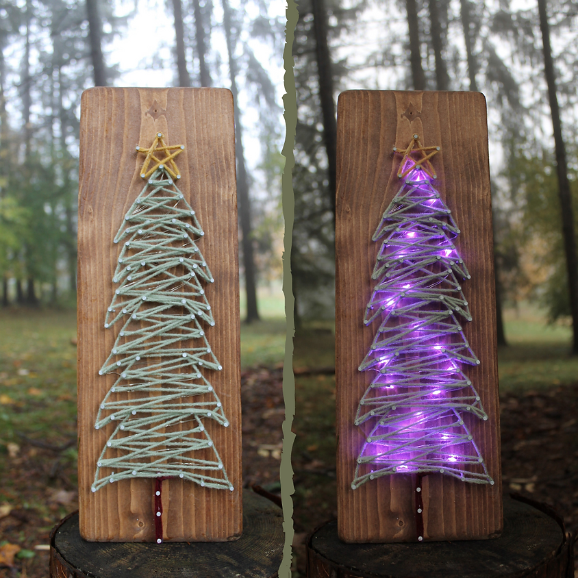 SOLD OUT: Twinkling Tree String Art Workshop