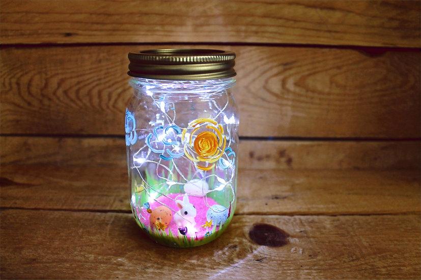 Spring Bunny Mason Jar Lantern Kit