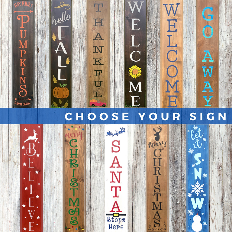 Harvest & Holiday Porch Sign Workshop