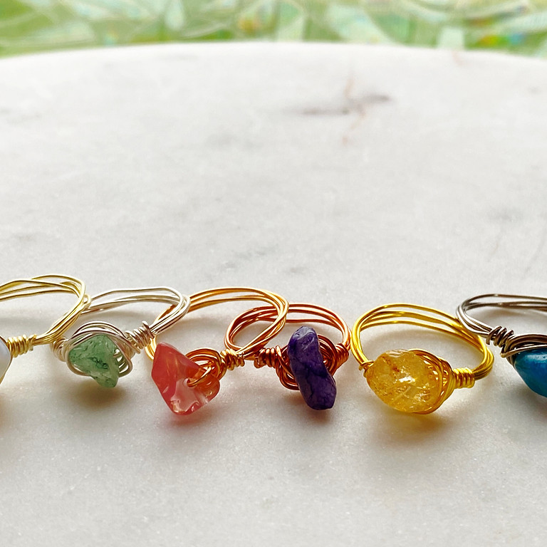 Wire Wrapped Crystal Rings Workshop