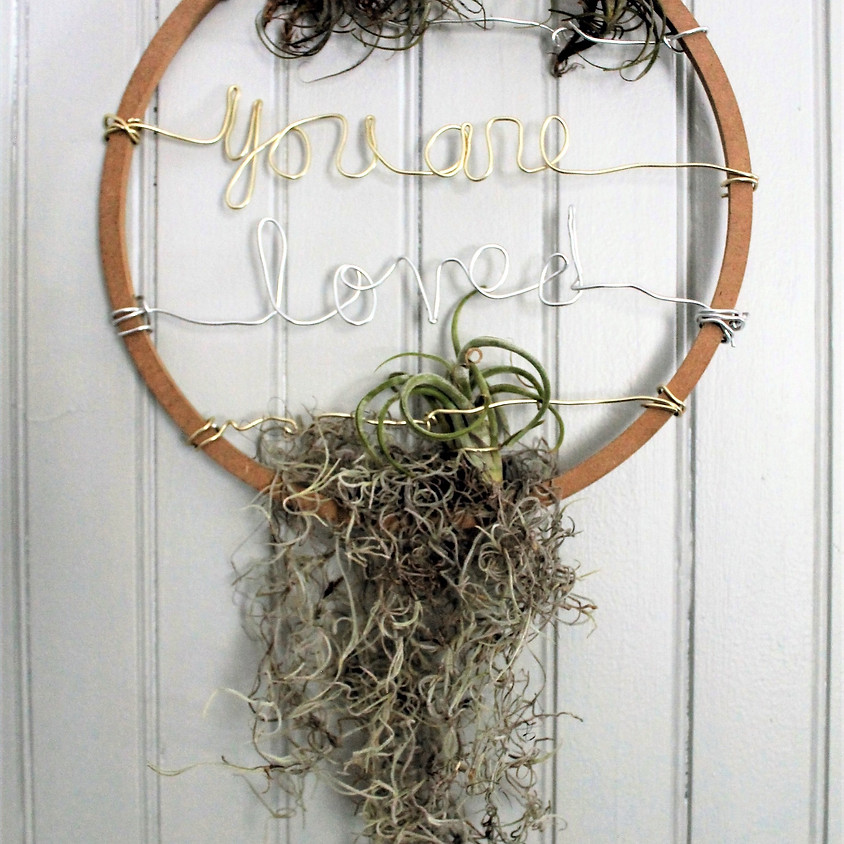 Wire Words Air Plant Hanger