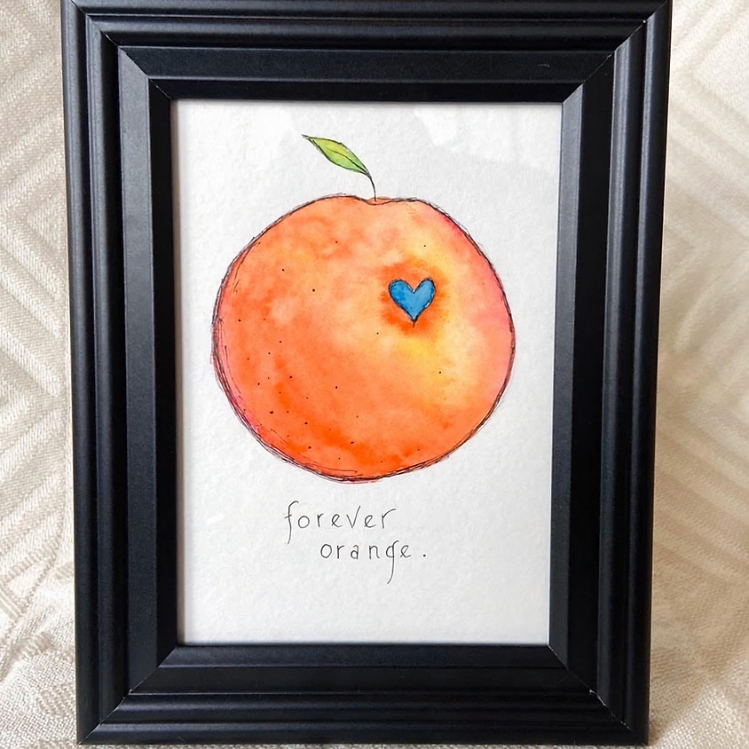 SOLD OUT: Forever Orange Watercolor