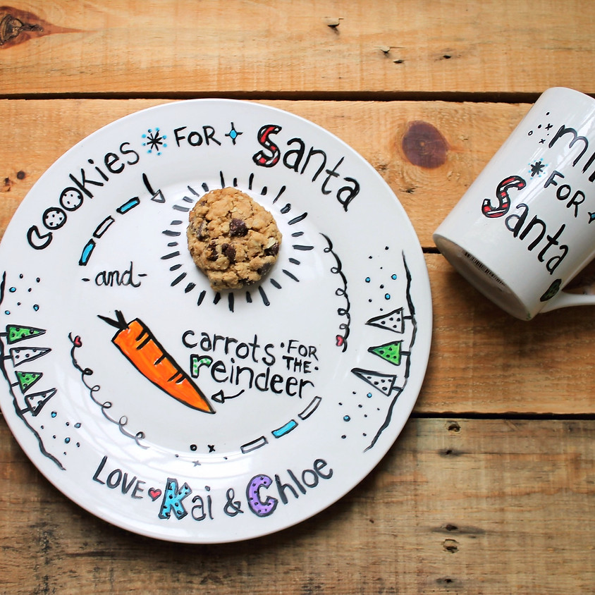 Virtual Event: Paint Your Own Cookie Plate & Mug for Santa