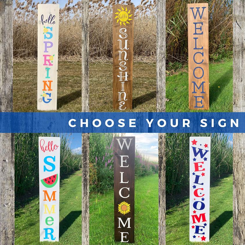Spring and Summer Porch Sign Workshop