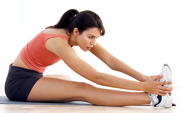 Woman stretching during Physical Th