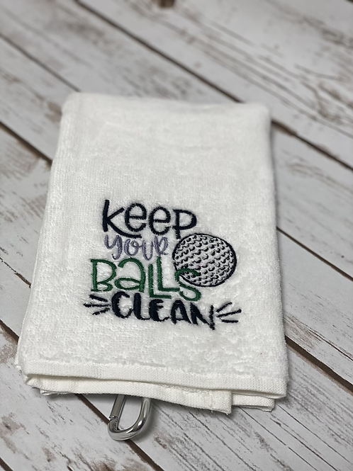 Golf / fishing / football towel personalised