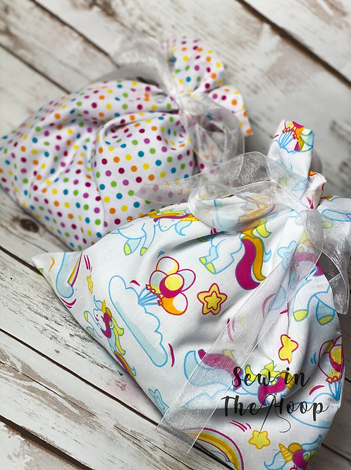 Children's Birthday Reusable Fabric Gift Bags