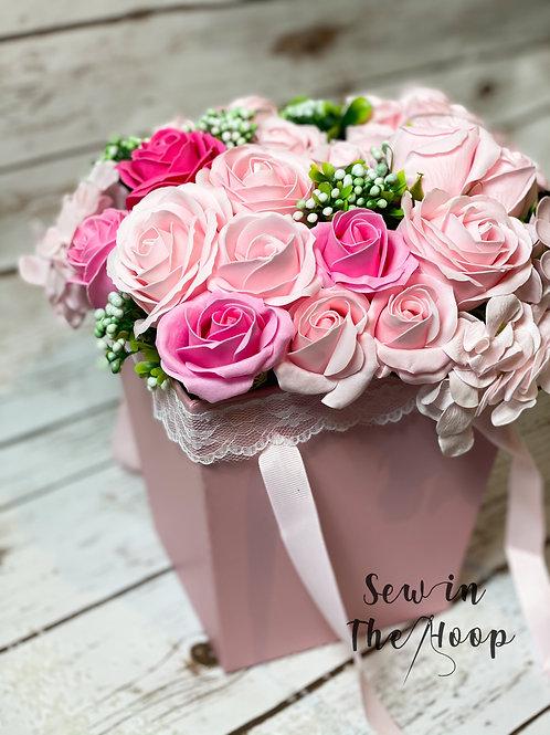 Soap Flower Pink Bouquet