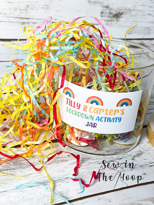 Personalised Lockdown Activity Jar