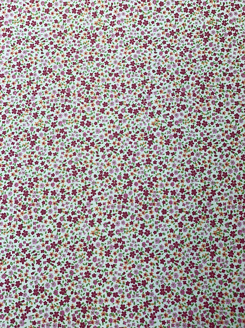Ditsy Small Pink Floral Polycotton Fabric