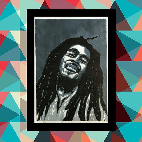 Bob Marley Handmade Art Frame