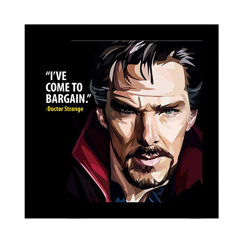 Doctor Strange I've Come To Bargain Frame