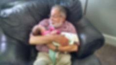 A prud grandpa! Tim's father