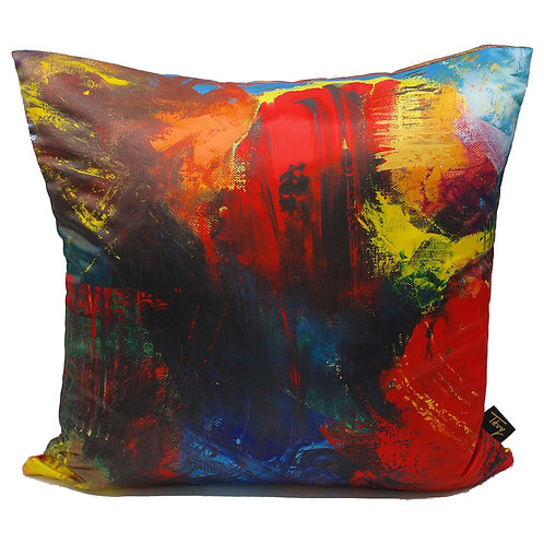 """LA VIE AQUATIQUE"" CUSHION (POLY SATIN)"
