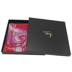 Tevy-argentin silk scarf with box LD no contour