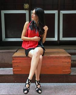 Rouge et noir seat