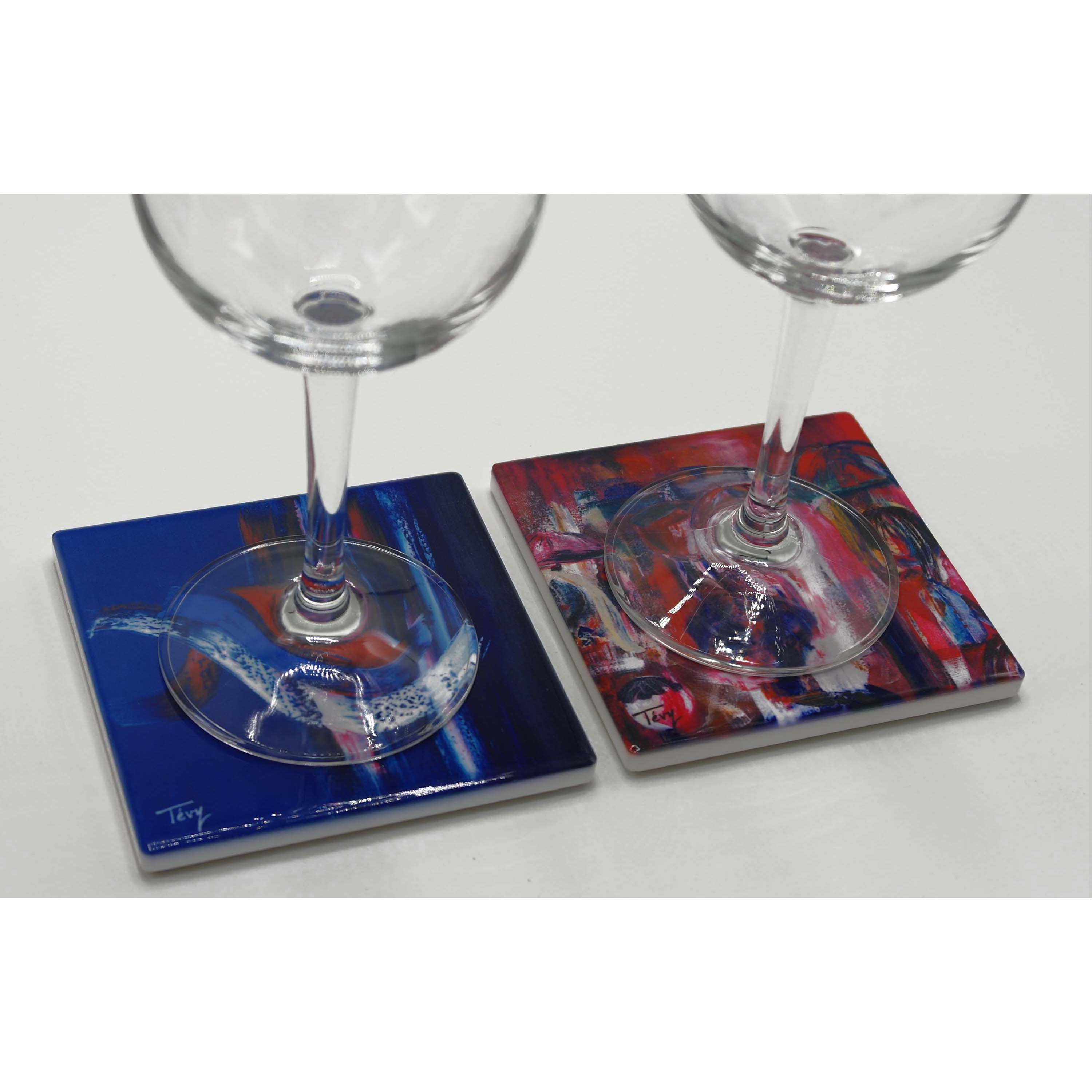 coasters with glass square