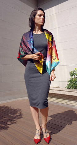 La vie aquatique shawl