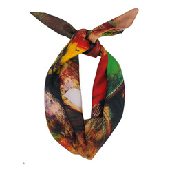 jungle silk scarf 100x100cm