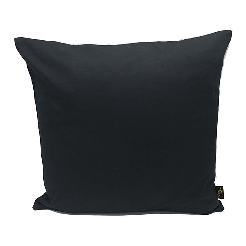 PLAIN BLACK CUSHION (COTTON CANVAS)