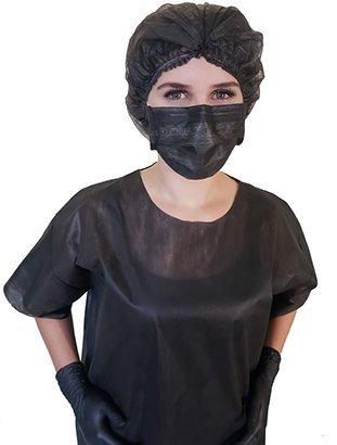 Máscara descartável Preta - 10 unidades