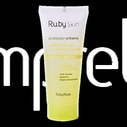 Sabonete gel de limpeza facial – antipoluição