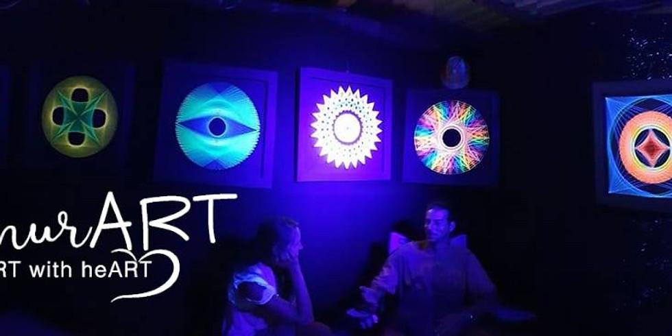 Stringart Ausstellung und Workshop von Schnur-ART