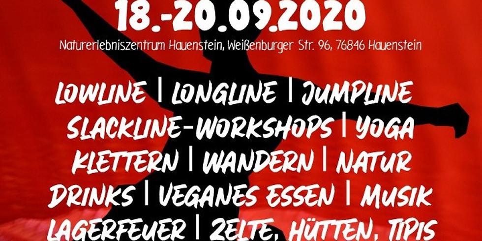 GURU SLACK Slackline-Meeting im Pfälzerwald