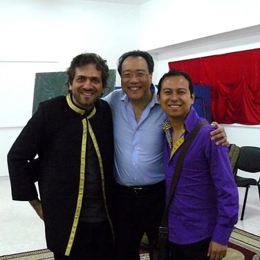 Kamal Musallam with Yo-Yo Ma and Israel