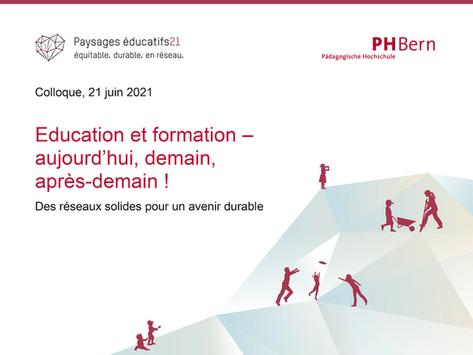 Colloque « Education et formation – aujourd'hui, demain, après-demain ! »