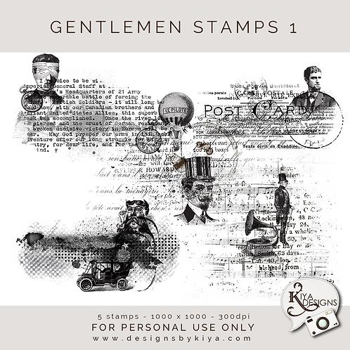 Gentlemen Stamps Set 1