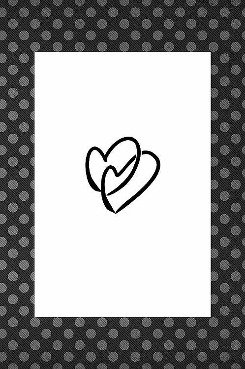 Black Hearts Printable Wall Art
