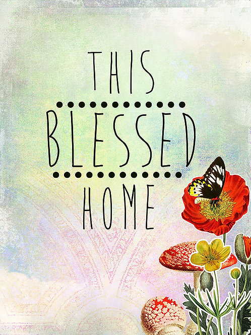 Blessed Home Wall Art Printable