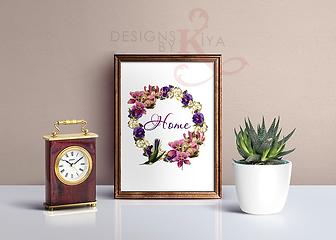 Free Home Wreath Printable