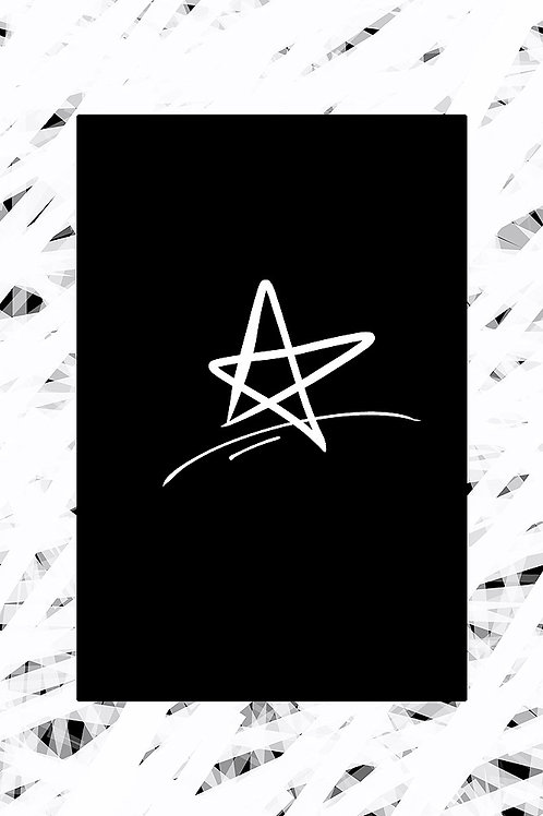 White Star Printable Wall Art