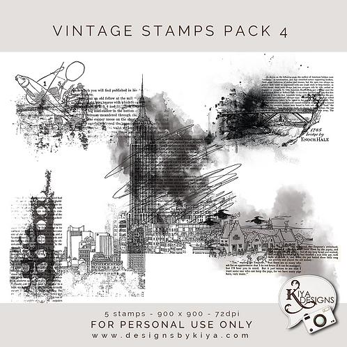 Vintage Stamps Pack 4