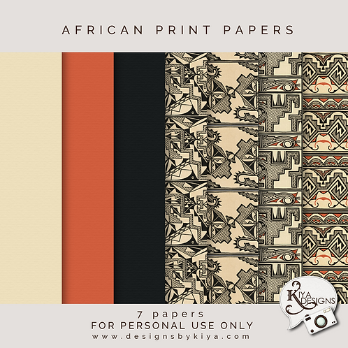 African Prints Papers