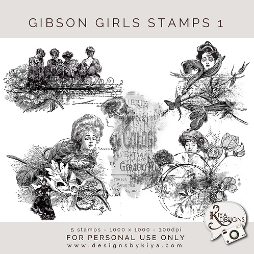 Gibson Girls Stamps Set 1
