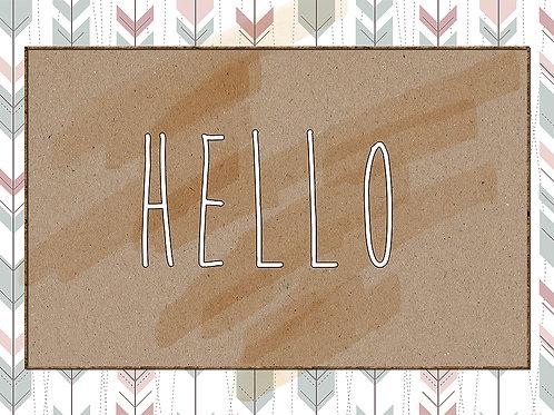 'Hello' Card Printables