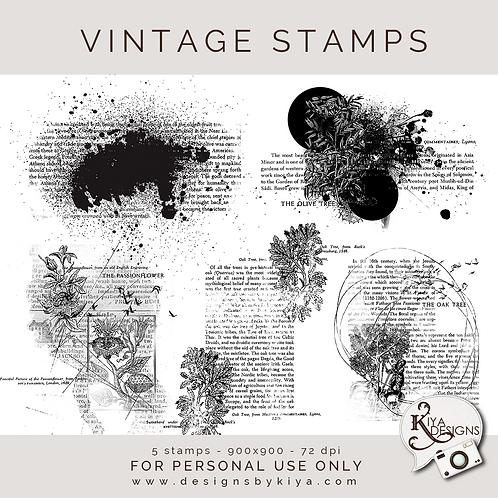 Vintage Stamps Pack 1