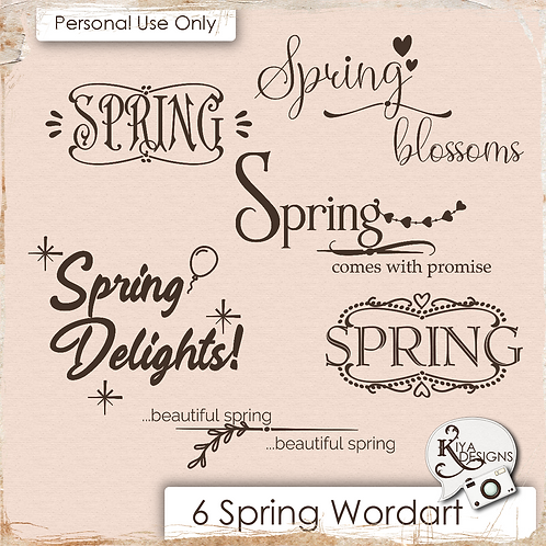 Spring Time Word Art Pack