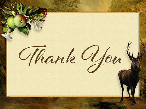 Stag 'Thank You' Card Printables