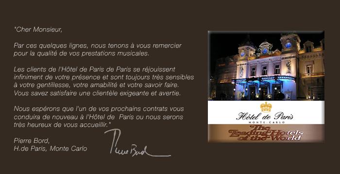 Wix. Hotel De Paris