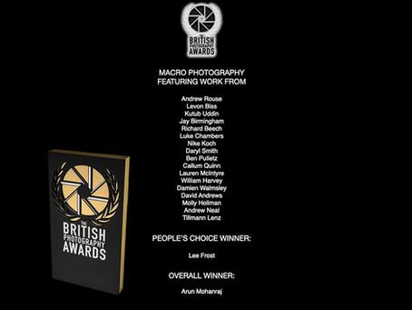 CPS - Member Arun Mohanraj Wins British Photography Awards Macro Photographer 2021!