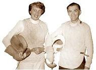 DFCD Diplom-Fechtmeisterin Lilo Grasses und Fechtmeister Fritz Eggert (Foto 1950)