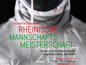 Rheinische Mannschaftsmeisterschaften 2017 in Düsseldorf, ausgerichtet durch den DFCD