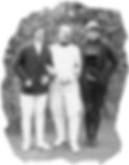Zu Gast beim DFCD Olga Oelkers, Fechtmeister Gazzera und Helene Mayer (Olympiasiegerin) (Foto 1929)