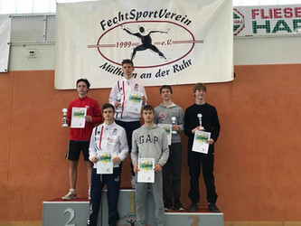 Florettturnier in Mülheim a.d.R ein wichtiges Punkteturnier für unsere Fechter