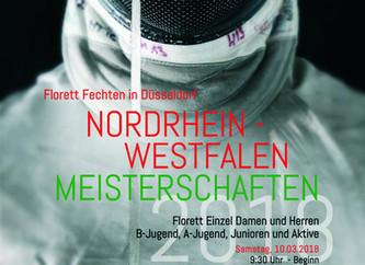 Florett Einzel NRW-Meisterschaften 2018 in Düsseldorf